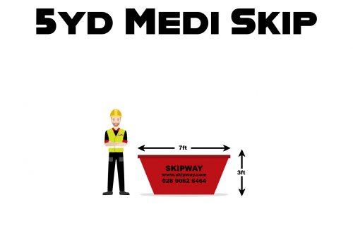 5yd³ Medi Skip